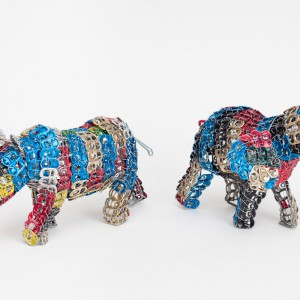 Can tab Multi colour rhino & ele lrg