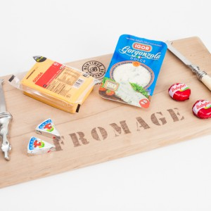 Fromage board rectangle with iron handle 55x28x4cm