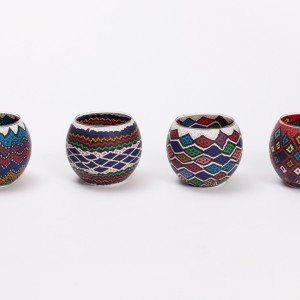 printed tea light lrg ethnic design