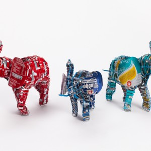 recycled can elephant-sml lrg