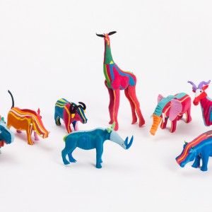 recycled flip flop animals