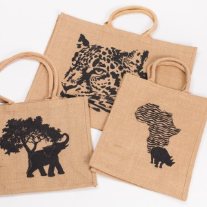 hessian bags assorted prints