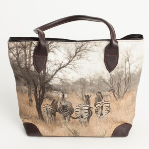 digi print leather ladies handbag