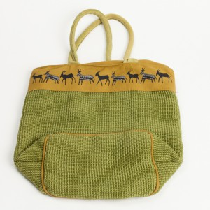fabric buck print shopper