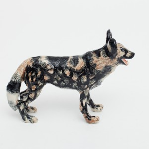 Ceramic african wilddog lrg / avail in sml