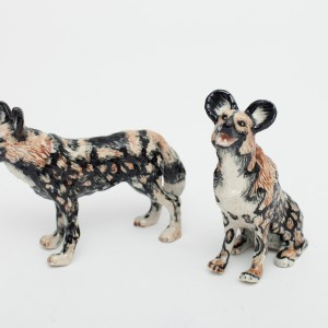 Ceramic wild dog salt & pepper set