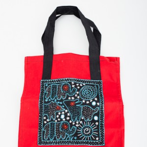 embroidered ladies market shopper