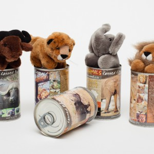 Big 5 soft animal in can