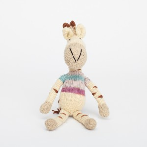 handknitted giraffe toy
