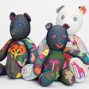 embroider teddy bears
