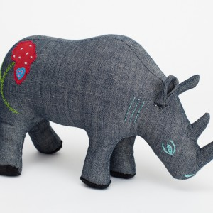 embroidered rhino