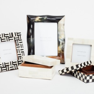 bone horn foto frames/jewellery boxes