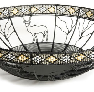 wire bowl with bead 45 diameter