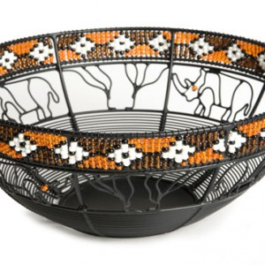wire bowl with bead 35 cm diameter