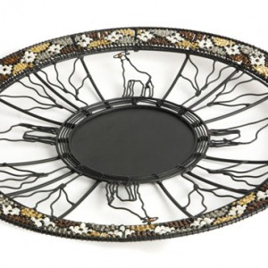 wire platter with bead