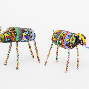 zulu beaded rhino/ele