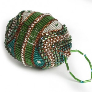 "african ""faberge"" egg copper- bead"